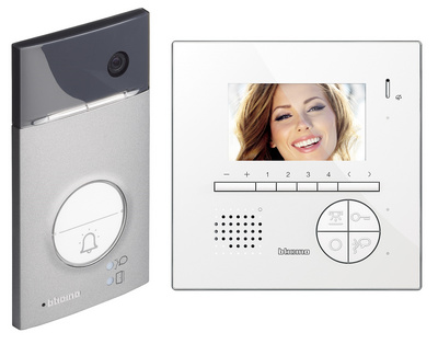 "Video door entry kit LINEA 3000 Colour video entrance panel with wide angle camera + c100 4,3"" LCD 363411"